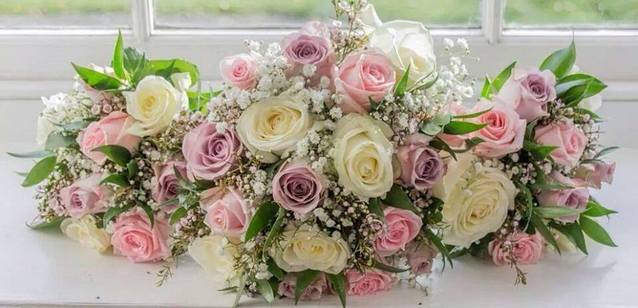 Pink and White Wedding Boquet