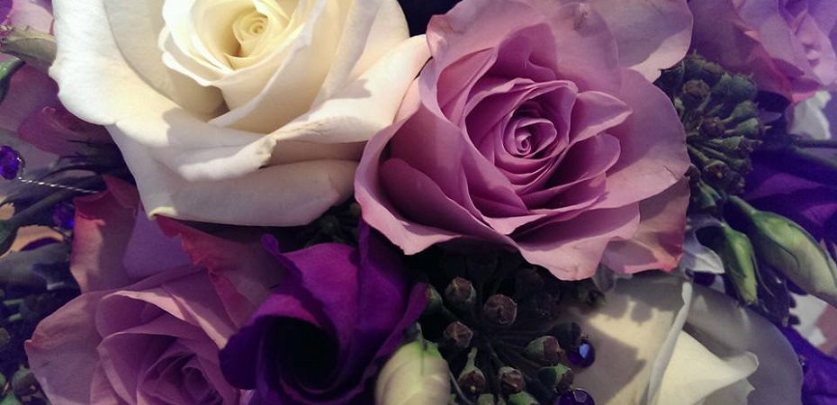 Purple and white Boquet